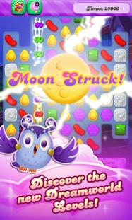 דוגמה לכתב יד מחובר ולא קריא במסך משחק Candy Crush