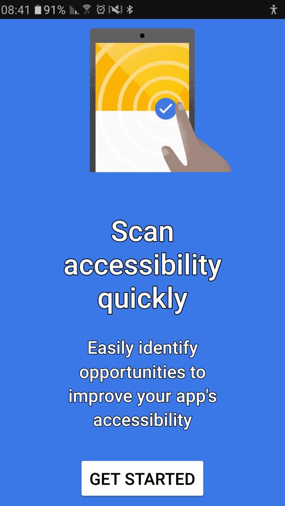 תמונה 1 מסך הפתיחה של האפליקציה